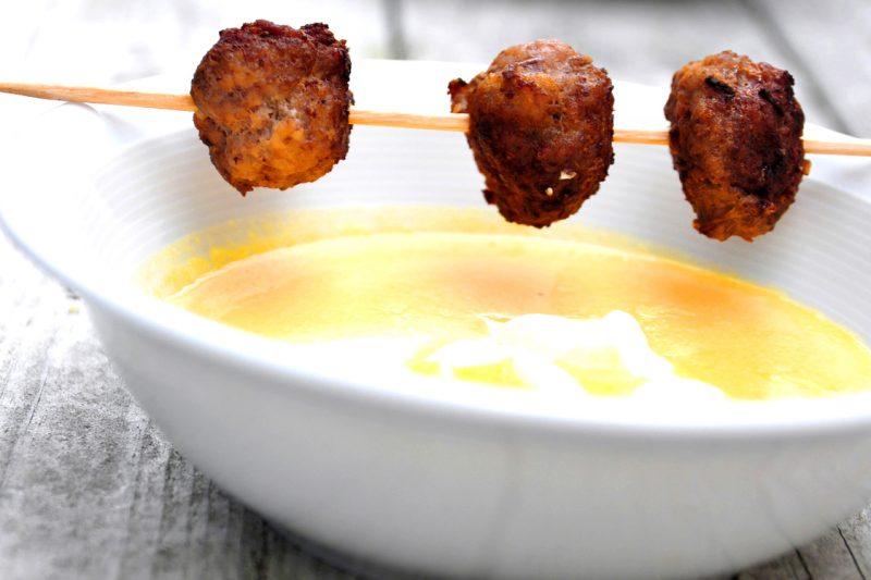Kürbiscremesuppe mit Orangenpfeffer