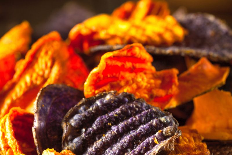 Orientalische Gemüsechips mit Bio Ras el Hanout