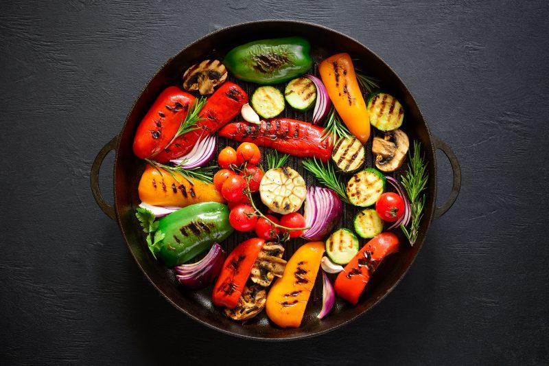 Röstgemüse vom Grill mit Gemüsegewürz