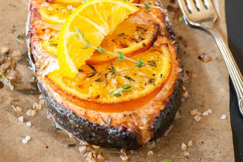 Lachssteak mit Orangenpfeffer