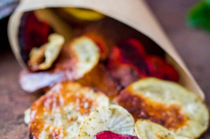 Gemüsechips mit Pommesgewürz