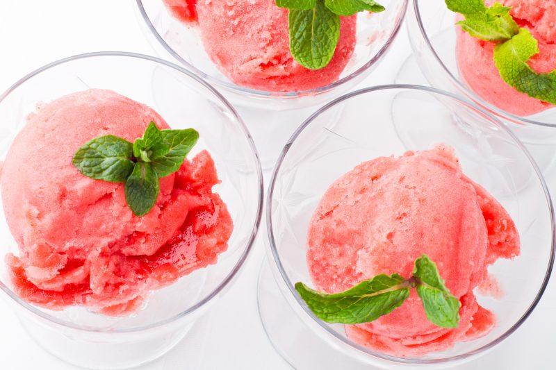 Erdbeer-Sorbet