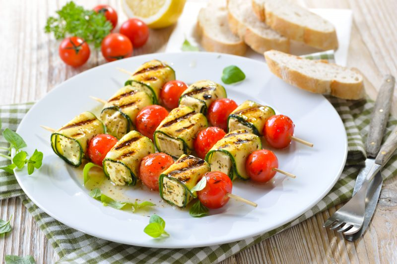 Feta-Zucchini-Spieße
