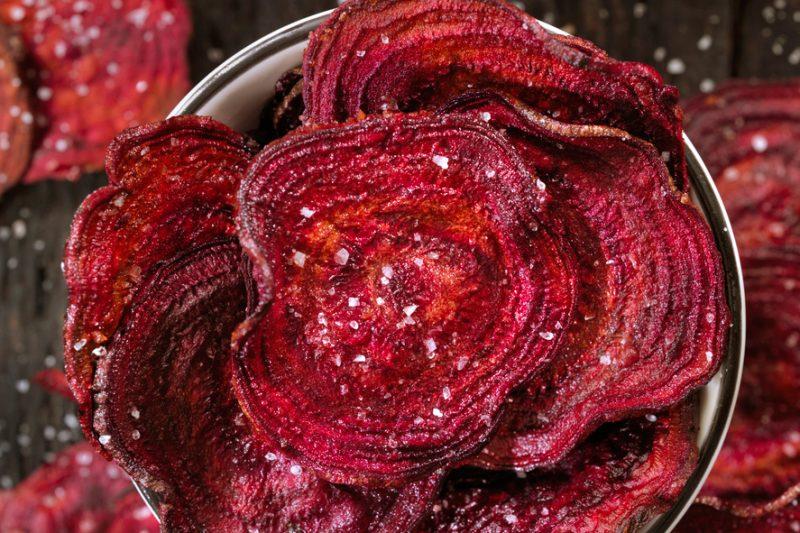 Rote-Bete-Chips mit Fleur de Sel