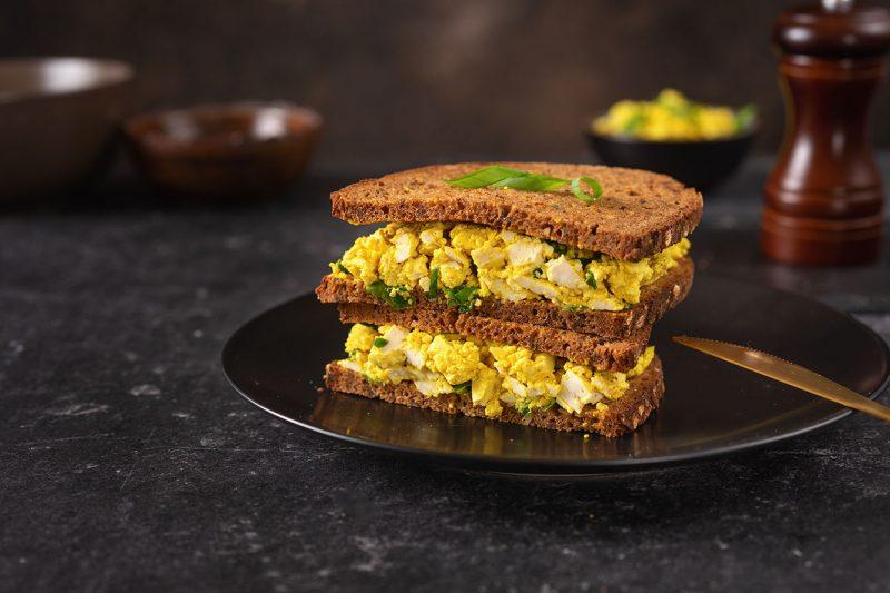Veganer Eiersalat-Sandwiches