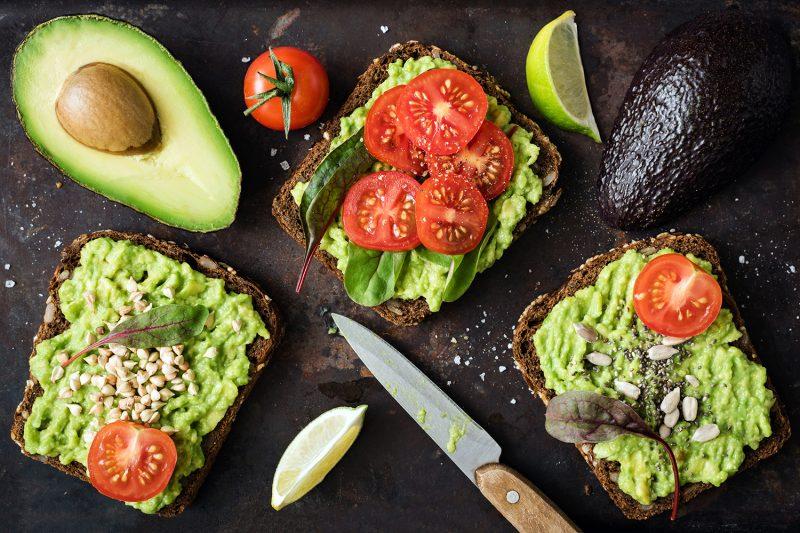 Gesunde Avocado-Brote
