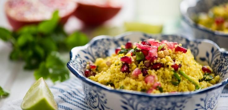 Couscous Salat Mit Granatapfel Und Ras El Hanout