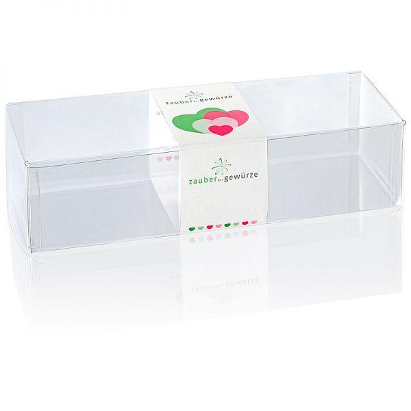 Klarsicht-Box bunte Herzen 3-er (leer) für eigene Gewürz-Auswahl