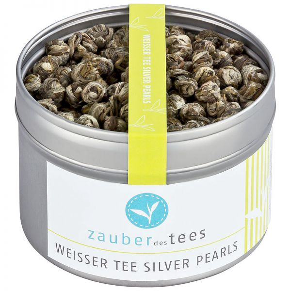 Weißer Tee Silver Pearls