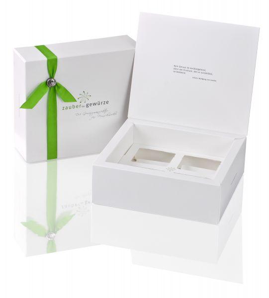 Weiße Box 4-er (leer) für eigene Gewürzauswahl