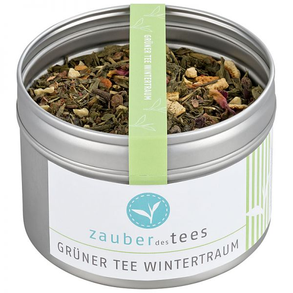 Grüner Tee Wintertraum
