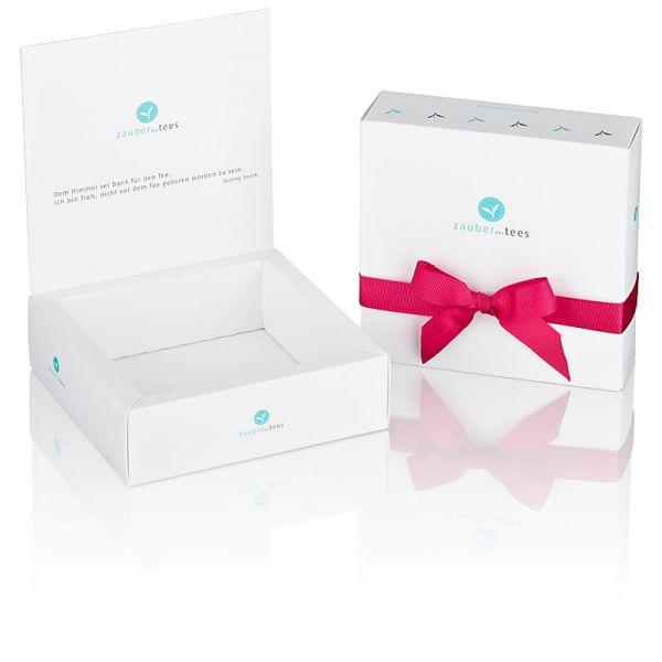 Geschenkbox 4-er weiß (leer) für eigene Tee-Auswahl