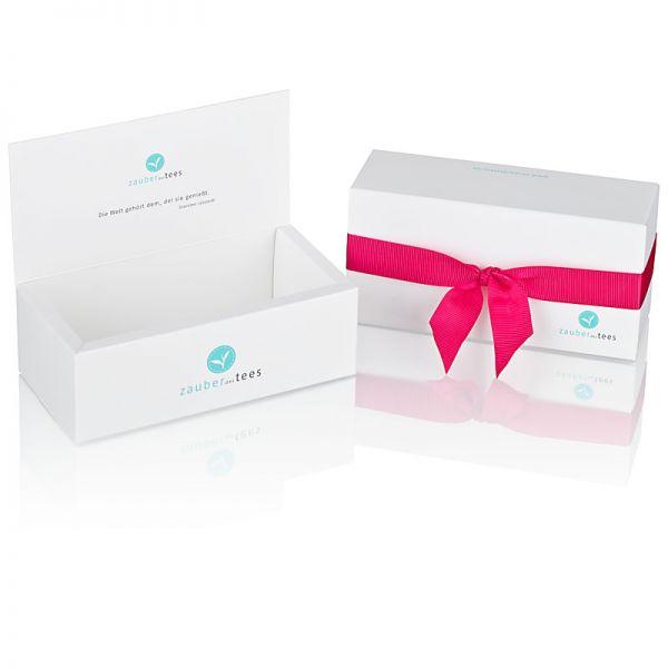 Geschenkbox 2-er weiß (leer) für die eigene Tee-Auswahl